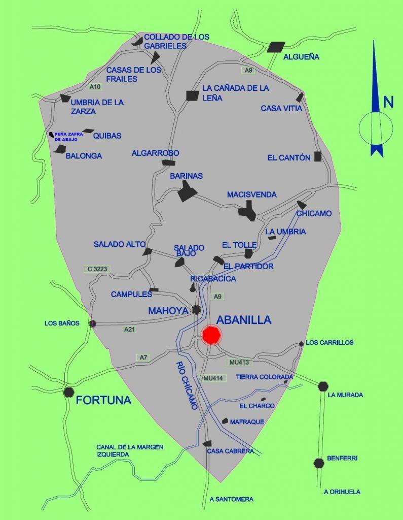 Mapa del termino municipal